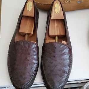 Men's Genuine Ostrich Shoes.